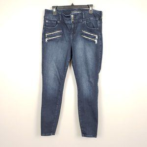 Torrid Moto Zip Dark Wash Jegging Denim Jeans